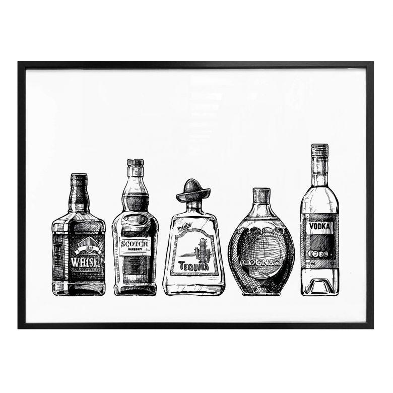 Poster 5 Flaschen voll Spaß