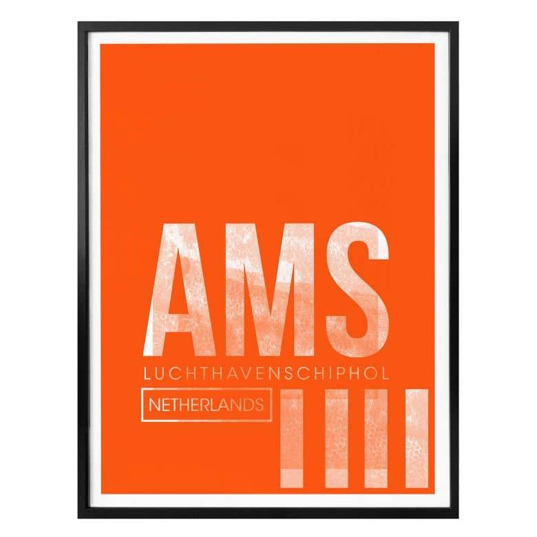 Poster 08Left - AMS Flughafen Amsterdam