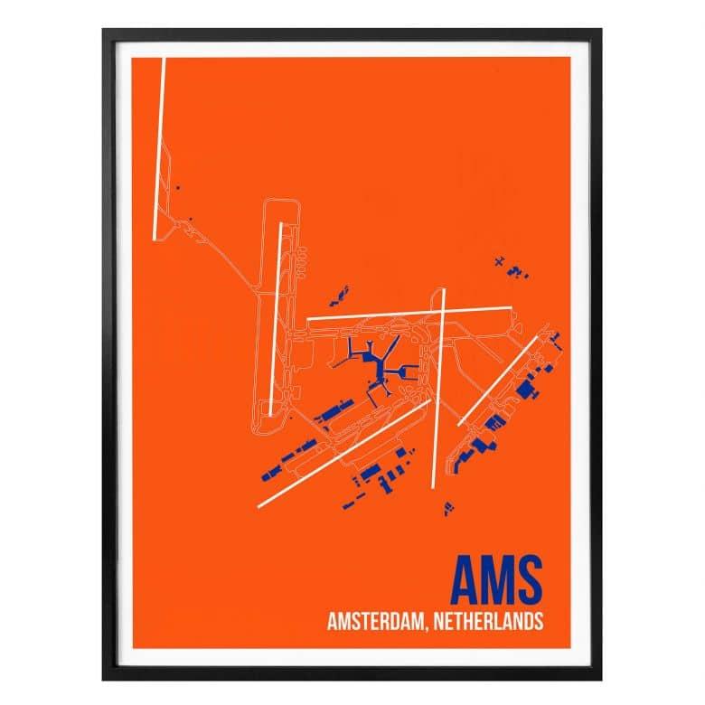Poster 08Left - AMS Grundriss Amsterdam