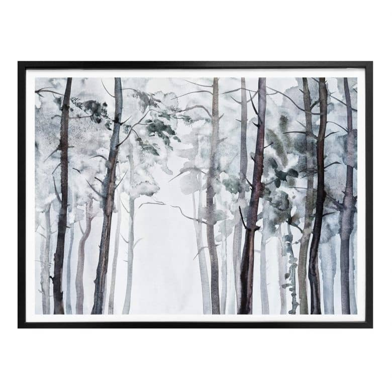 Poster Watercolour Forest