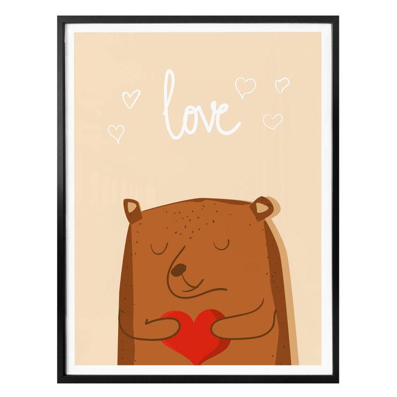 Poster Bärenstarke Liebe
