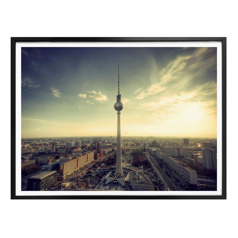 Poster Berliner Fernsehturm Panorama