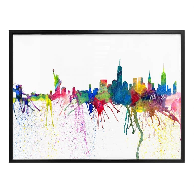 Poster Bleichner - New York City Aquarell Skyline