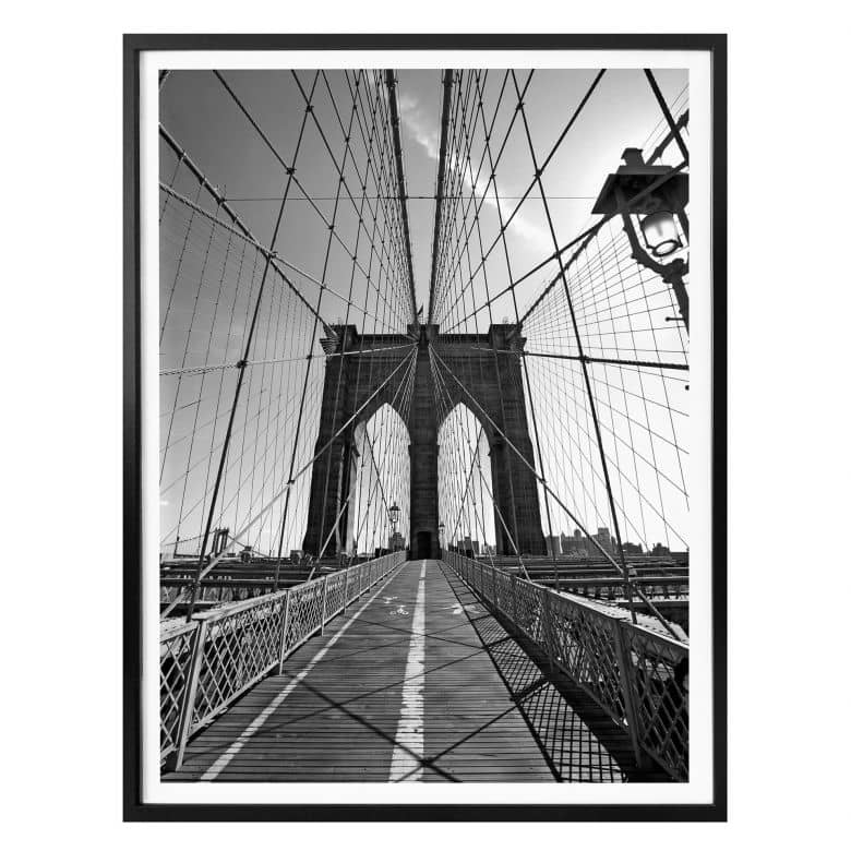Poster Brooklyn Bridge Perspective