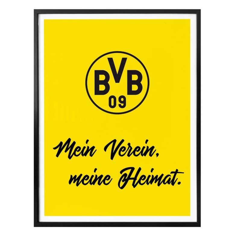 Poster Bvb Mein Verein Meine Heimat Wall Art Com