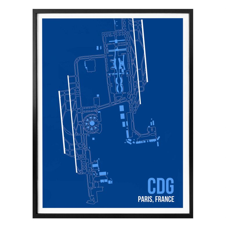 Poster 08Left - CDG Grundriss Paris