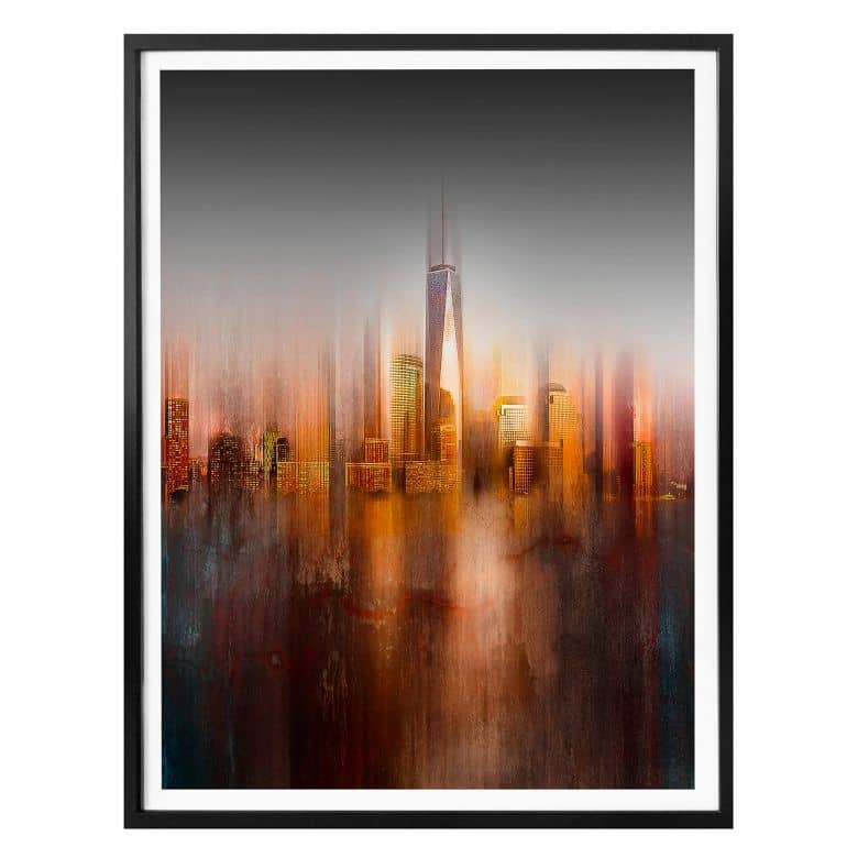 Poster Chiriaco - New York in the evening light