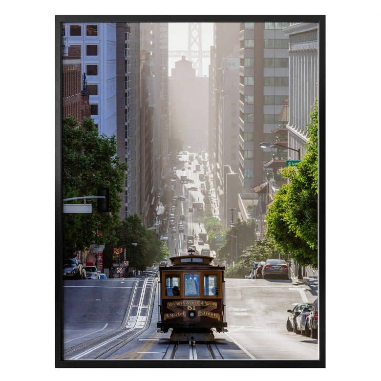 Poster Colombo - Cable Car in San Francisco