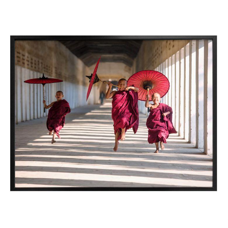 Poster Colombo - Drei junge Mönche