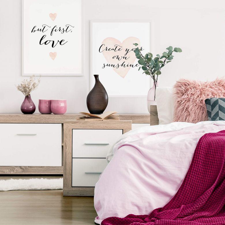 Poster set incl. frames - Confetti & Cream - Love