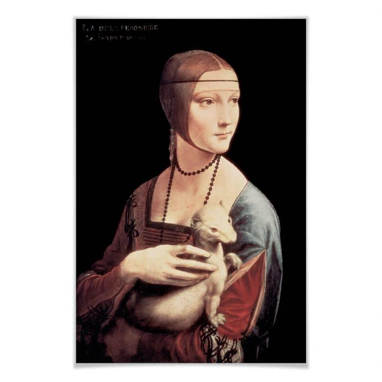 Poster da Vinci - Die Dame mit dem Hermelin