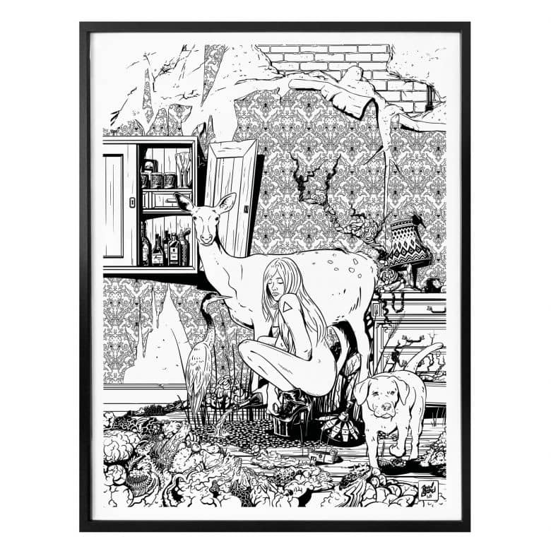 Poster Drawstore - In the Livingroom