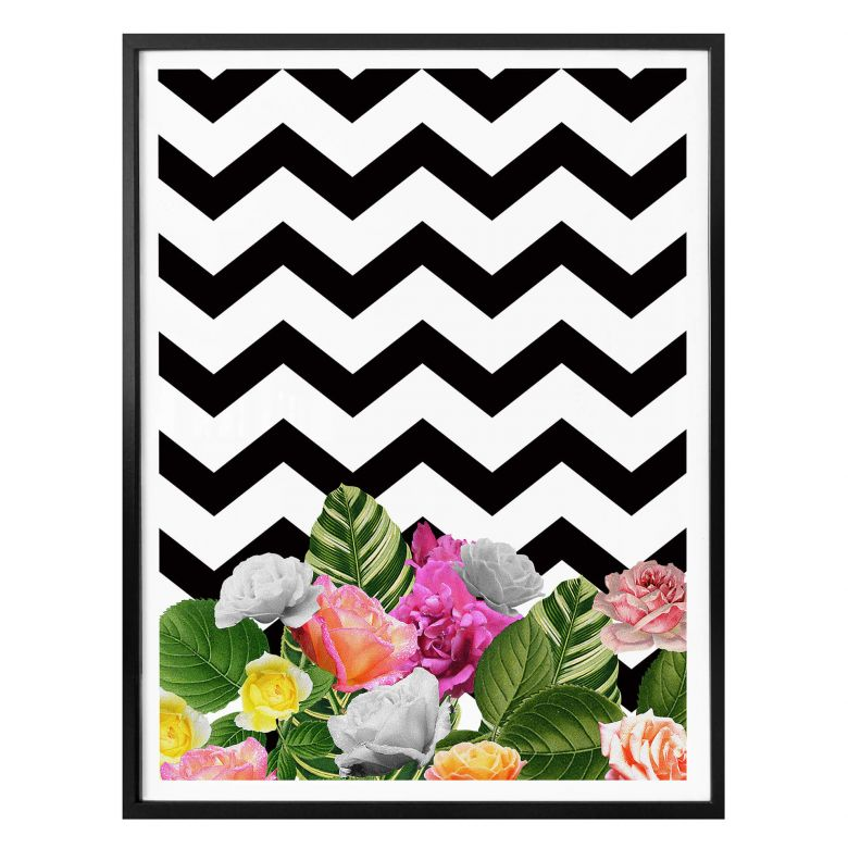 Poster Feldmann - Chevron Floral