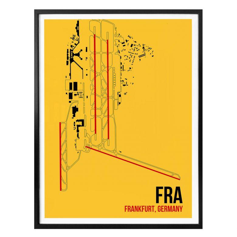 Poster 08Left - FRA Grundriss Frankfurt