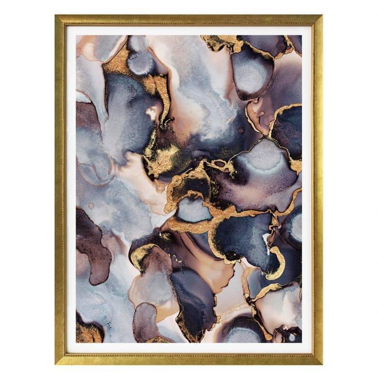 Poster Fredriksson - Tinte: Rosé und Gold