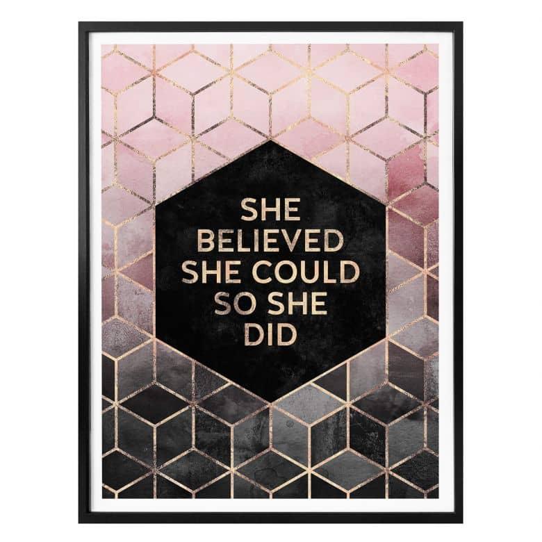 Poster Fredriksson - She Believed
