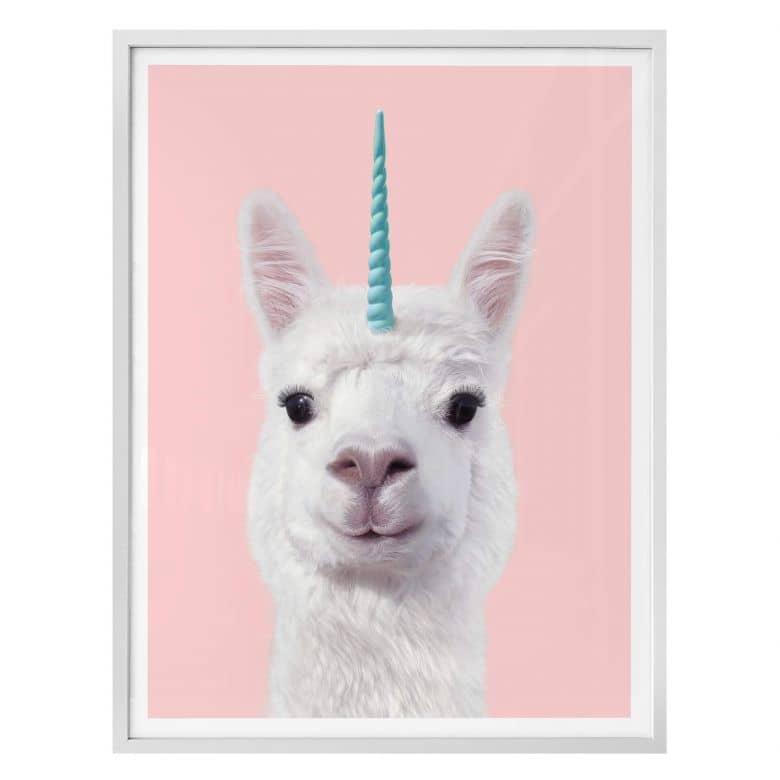 Poster Fuentes - Alpaka-Unicorno