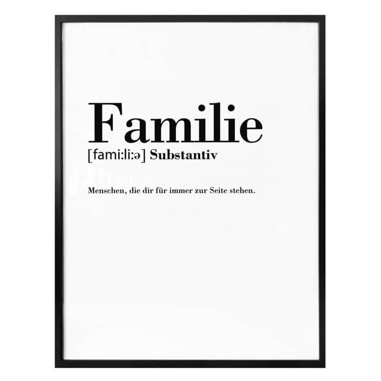 Poster Grammatik - Familie