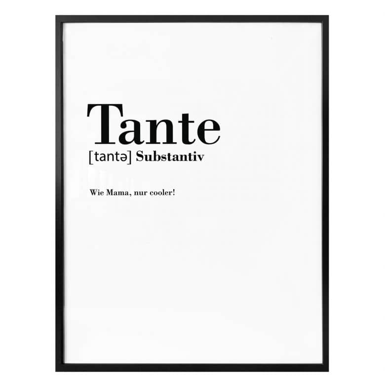 Poster Grammatik - Tante