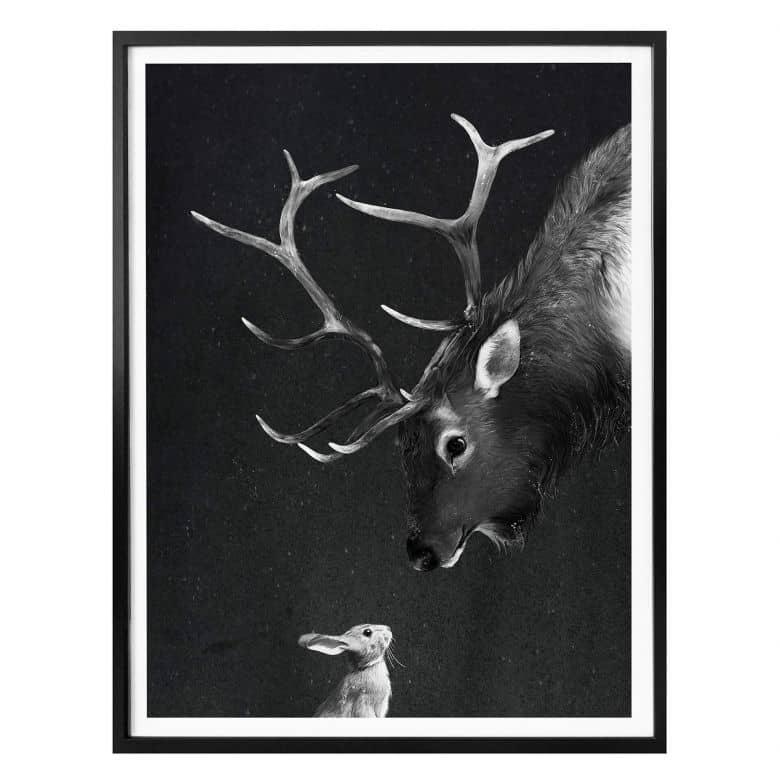 Poster Graves - Cerf et lapin