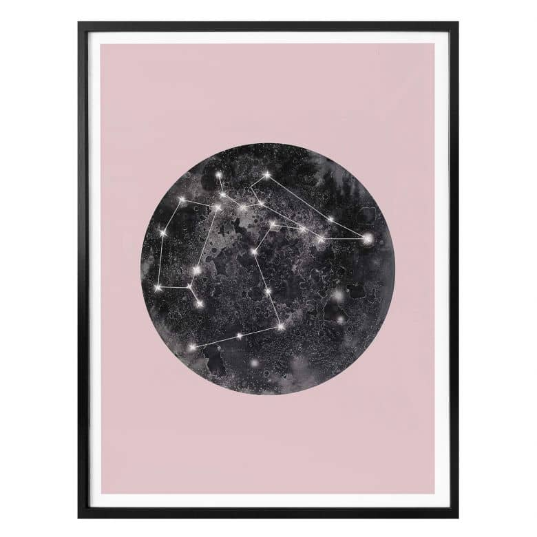 Poster Hariri - Constellation Pink
