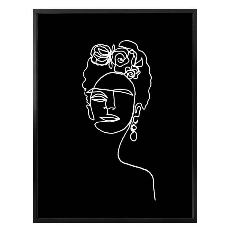Poster Hariri - Frida Kahlo negative
