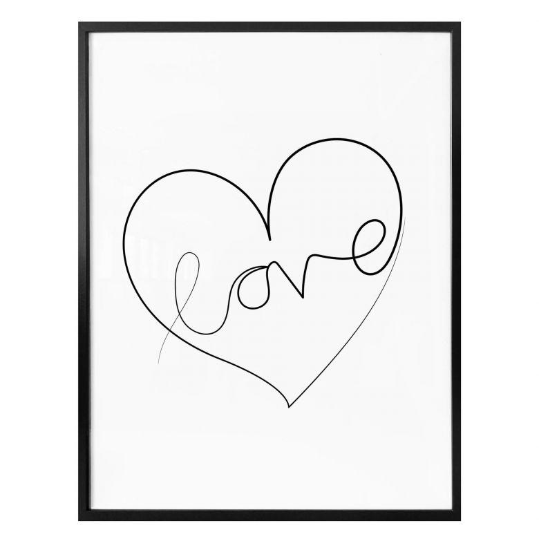 Affiche Hariri - Love Lines - Blanche