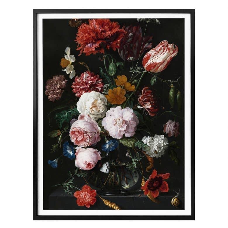 Poster de Heem - Flowers in a vase