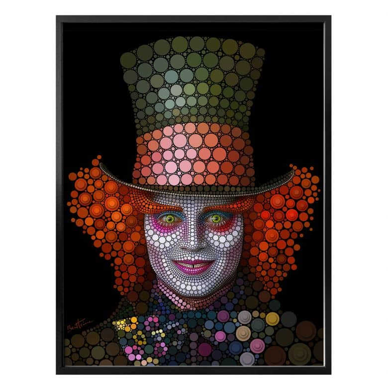 Poster Ben Heine - Circlism: Johnny Depp
