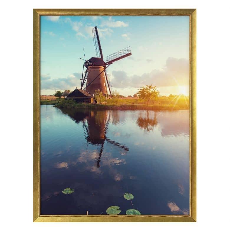 Poster Holländische Windmühle