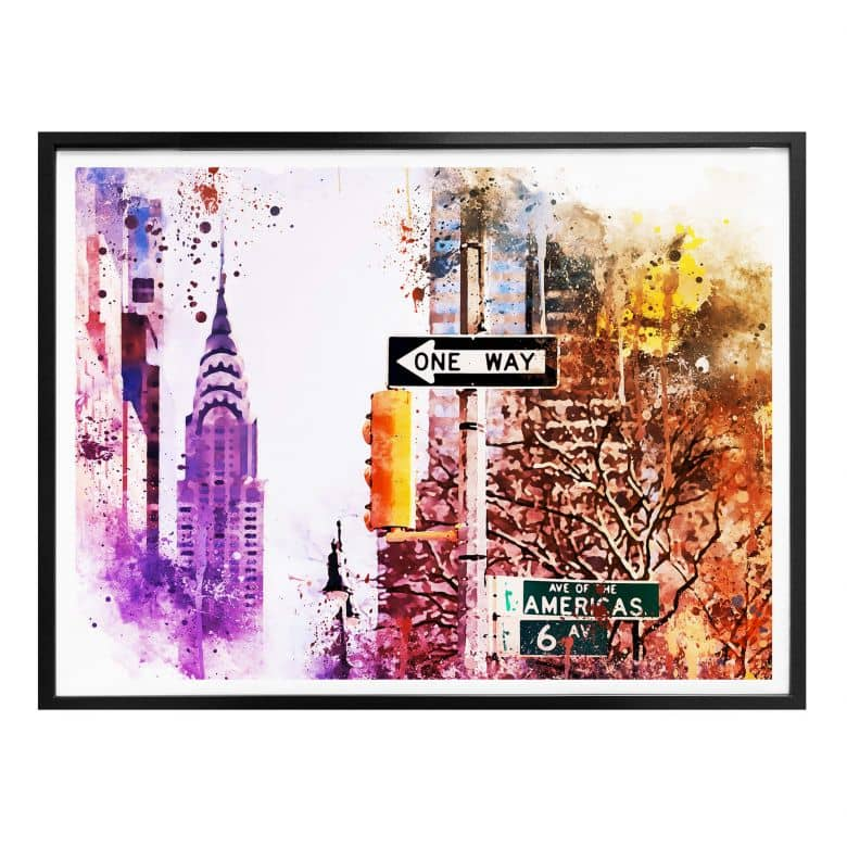Poster Hugonnard - Watercolour : The Empire State Building