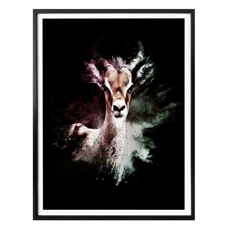Poster Hugonnard - Wild Explosion: Antilope