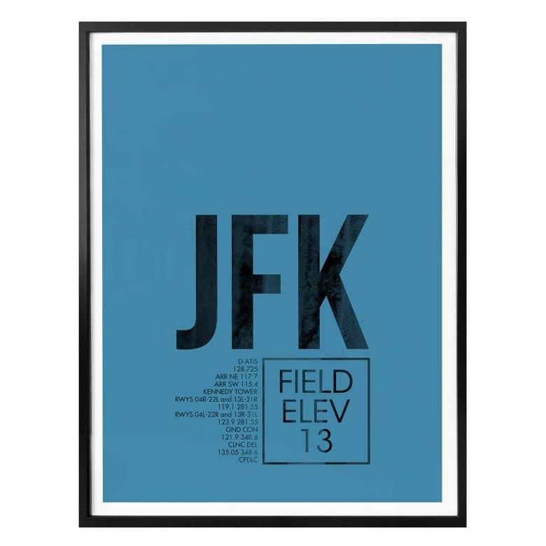 Affiche 08Left - Aéroport JFK - New York