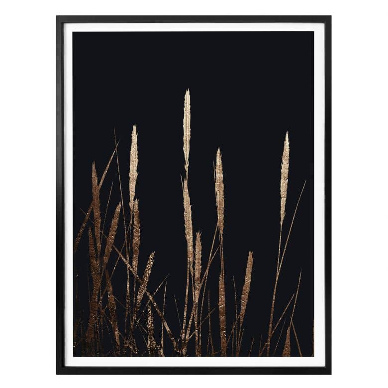 Poster Kubistika - Goldene Felder