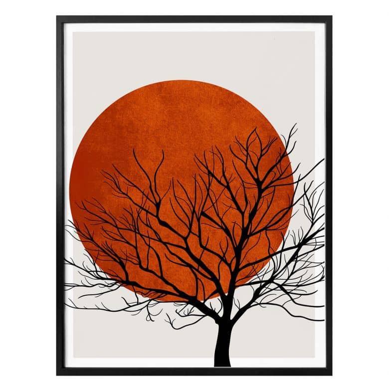 Poster Kubistika - Warm Sunset