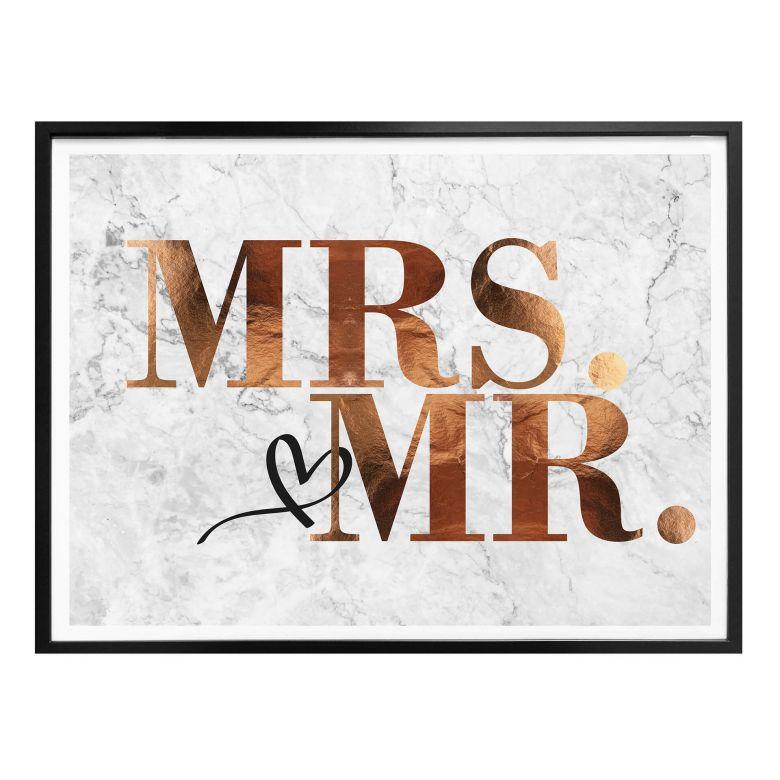 Poster Kupferoptik - Mrs und Mr
