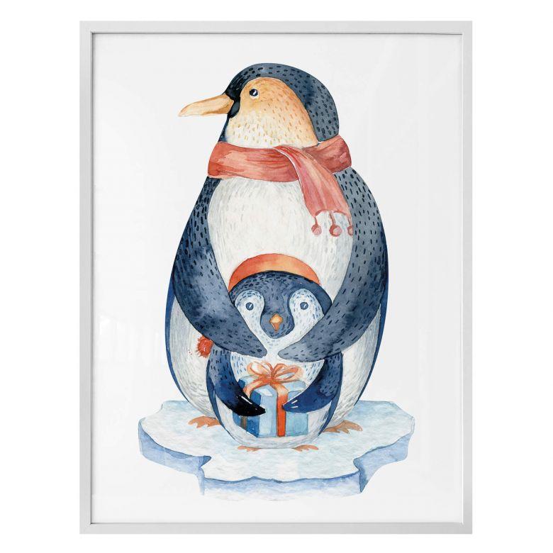 Poster Kvilis - Pinguin und das Geschenk