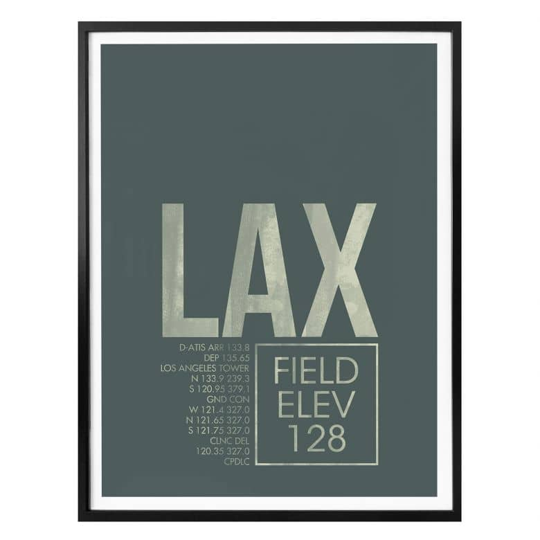Poster 08Left - LAX Flughafen Los Angeles