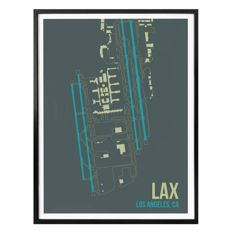 Poster 08Left - LAX Grundriss Los Angeles