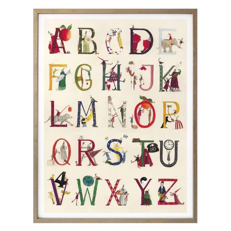Poster Leffler - Das Alphabet
