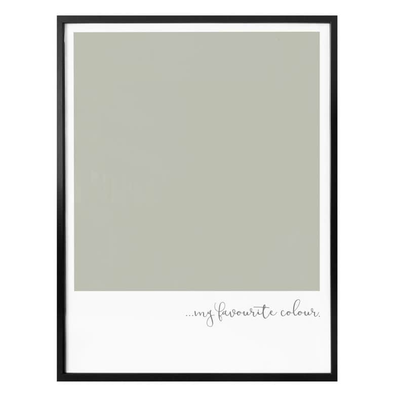 Poster My favourite colour - olive