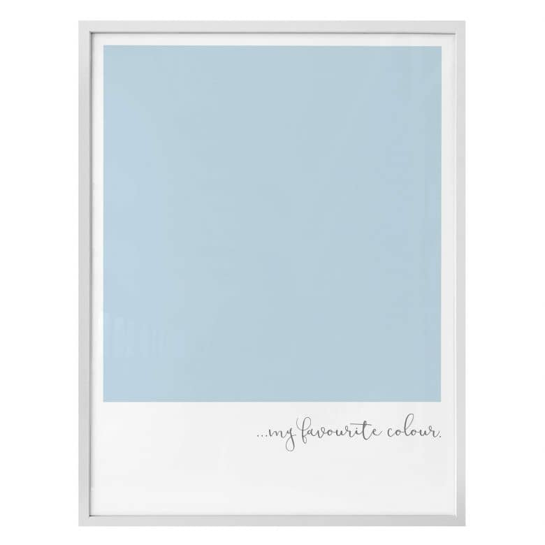 Poster My favourite colour - pastell blue