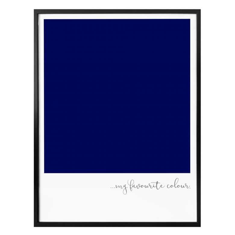 Poster My favourite colour - dark blue