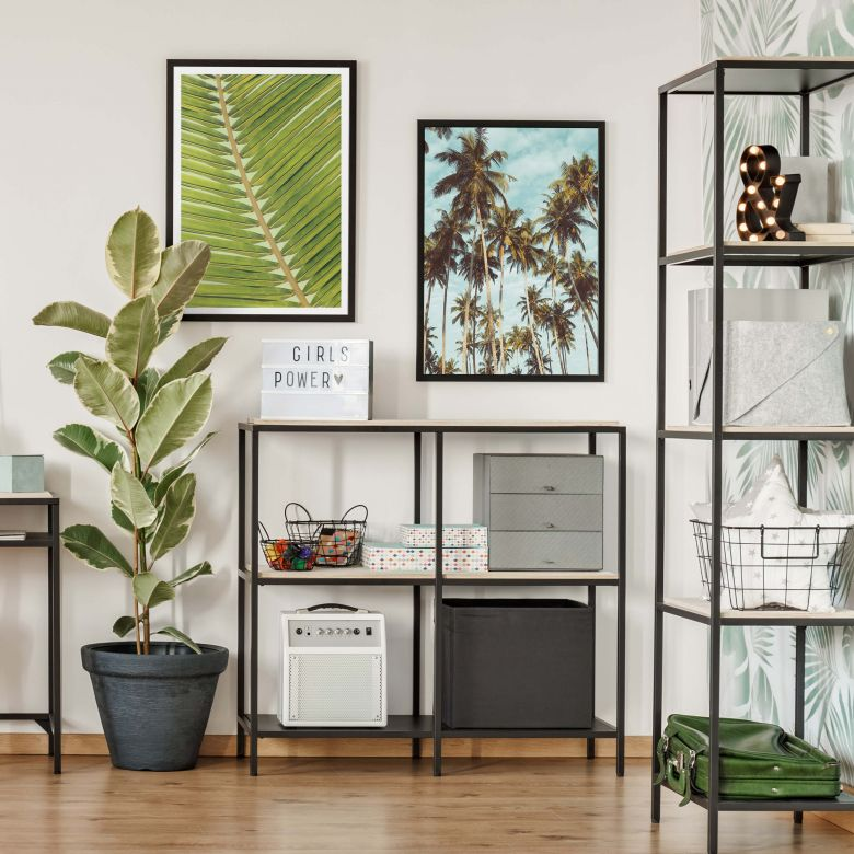 Poster set incl. frames - Palm tree leaves
