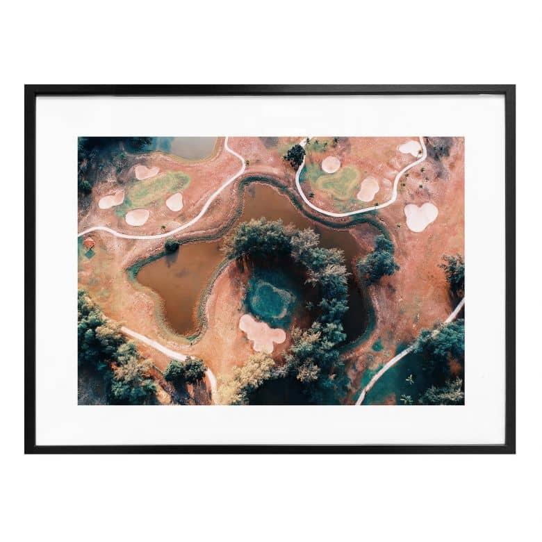 Poster Der Blick von oben: Landschaftskontraste