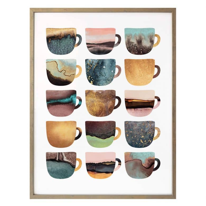 Poster Fredriksson - Pretty Cups of Coffee