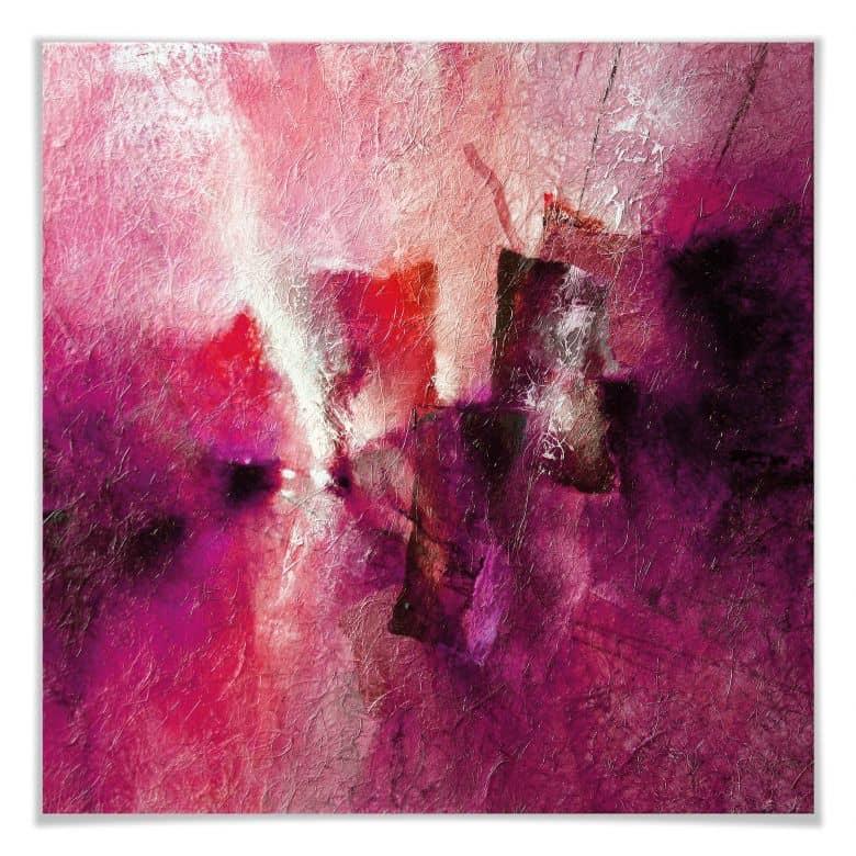 Poster - Schmucker - Abstrakte Komposition in Magenta
