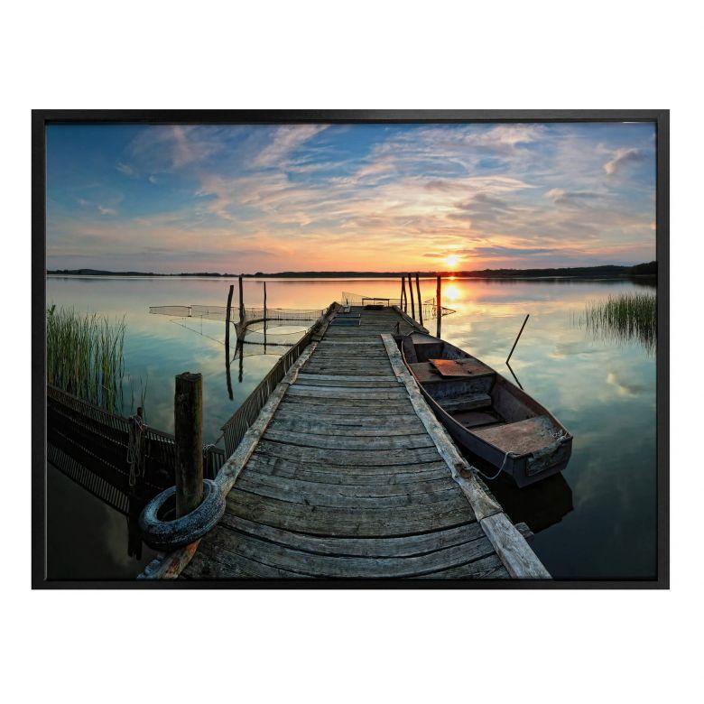 Poster Sunset at the lake