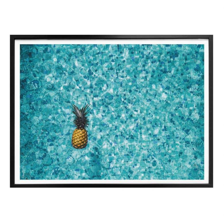 Poster Swimming Pineapple