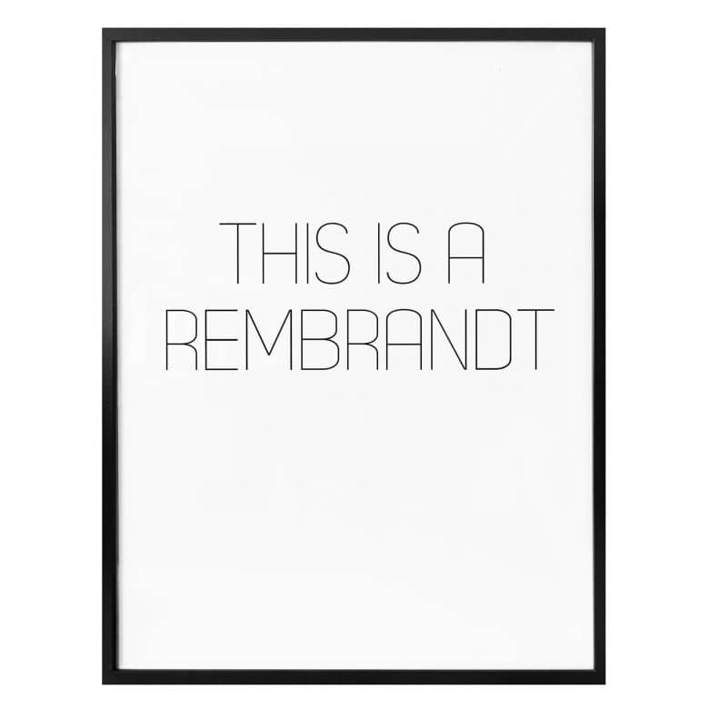 Poster This is a Rembrandt